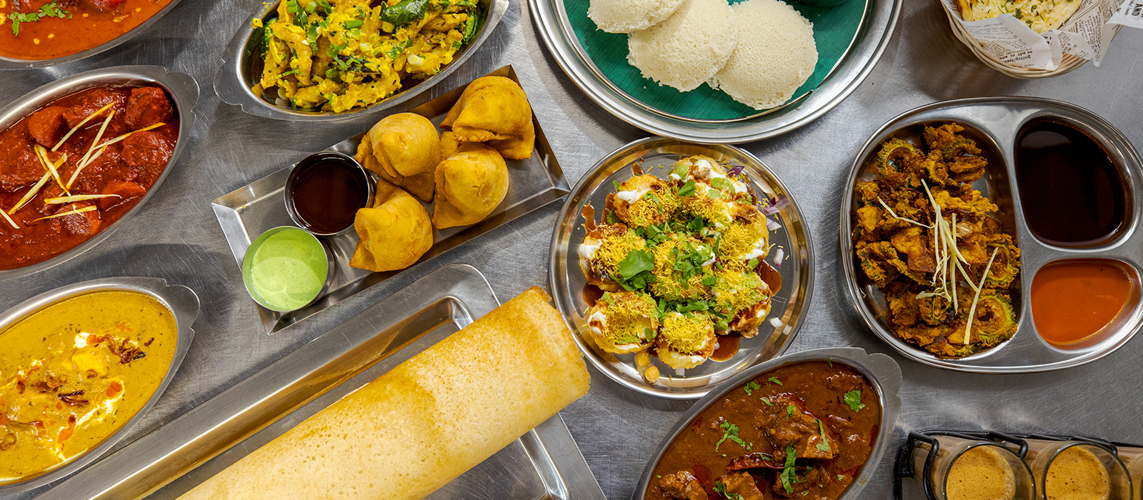 home page banner variety of indian foods