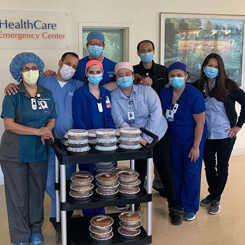 community free food giveaway for healthcare workers