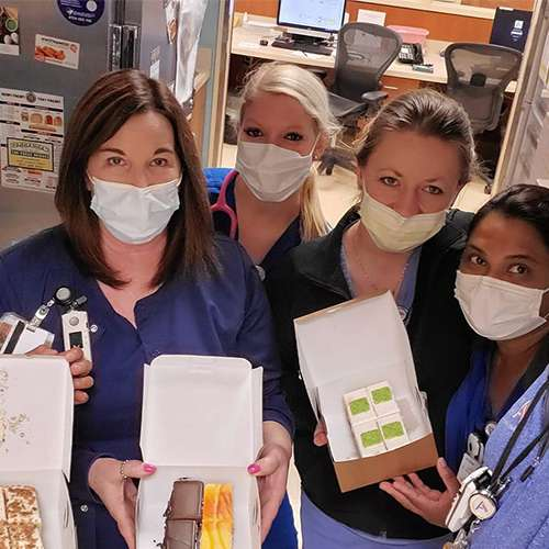 community-sweet boxes giveaway to frontline workers during covid pandemic